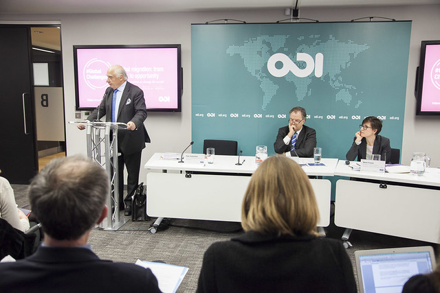Peter Sutherland speaks at ODI's event Global migration: from crisis to opportunity