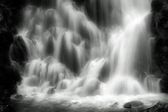 Falling Waters (Waterfall Guy) Tags: park bw white black mountains waterfall long exposure tennessee great falls east national smoky cataract gsmnp