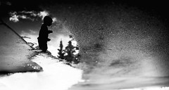 a new perspective (erinhensleyphoto) Tags: winter blackandwhite monochrome puddle upsidedown fineartphotography