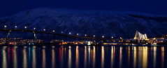 The Arctic Cathedral (Fong Lim) Tags: travel bridge norway night canon circle photography cathedral photos arctic 5d dslr ef lim tromso fong harstad mk3 2470mm