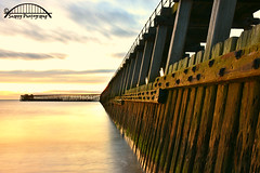 Blyth's Wooden Pier (johndefatkin) Tags: sea seascape beach sunrise river pier wooden harbour perspective northumberland blyth