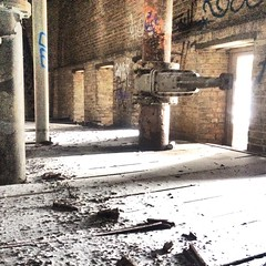 It's lonely at the top (neilsharris) Tags: chicago tower abandoned watertower urbanexploration vacant waterworks urbex