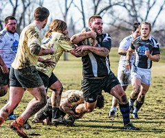 Rugby: 2016 Snow Bowl (rikki480) Tags: rugby tackle mud muddy messy mess dirt dirty snow bowl winterval festival sloppy men sports match outside lawton park fortwayne indiana outdoor teamsport
