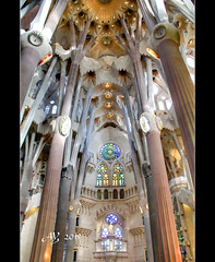 La Sagrada Familia (amandia) Tags: barcelona church architecture spain basilica bcn modernism catalonia artnouveau gaudi sagradafamilia sagrada antonigaudi