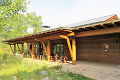 Visitor Center (Patricia Henschen) Tags: mountains moose jackson wyoming grandtetons tetons preserve naturepreserve visitorcenter grandtetonnationalpark laurancesrockefellerpreserve