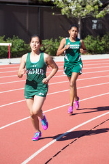 Julia near the front of the 1600m pack (Malcolm Slaney) Tags: track paloalto homestead trackandfield 2016 1600m paly