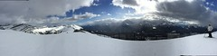 Top of the World (leema089) Tags: panorama snow canada mountains clouds landscape rockies skiing alberta rockymountains blueskies lakelouise mountaintop wintersports snowcappedmountains