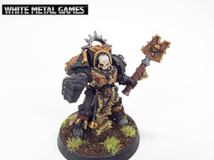Dark Angels Terminator Chaplain (whitemetalgames.com) Tags: white black green metal dark painting nc painted north games raleigh 40k angels armor carolina warhammer service terminator commission armour chaplain dreadnought tactical wmg rosarius