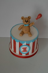 Teddy Drum Cake (Kennet House Cakes) Tags: birthday cake child teddy drum circus class course