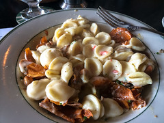 Sweet Potato Chip Duck Confit mixed with pimento mac n cheese (Brian Just Got Back From...) Tags: food addisontx idaclare