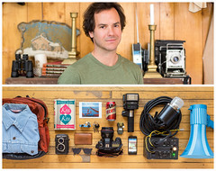 Ryan Diptych (J Trav) Tags: portrait canon persona diptych photographer tecate whatsinyourbag profoto everydayessentials showusthecontentsofyourbag thingsorganizedneatly