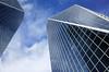 McCallum Hill Centre I and II (Eric Flexyourhead) Tags: blue sky canada building tower glass architecture clouds reflections downtown steel regina saskatchewan thin 12thavenue ricohgr wispy scarthstreet mccallumhillcentre
