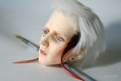 [Ringdoll K] Make up (Pleurodolls) Tags: k eyelashes handmade feathers makeup wig bjd handpainting ringdoll