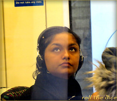 `1628 (roll the dice) Tags: uk portrait england people urban music blur reflection sexy london art classic window glass girl face up fashion sign train canon shopping out underground fur asian eyes chair funny pretty sad natural camden candid seat indian tube platform streetphotography talk stranger jacket rush sound shops headphones passenger wisdom mad vocals farringdon roundel londonist