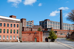 Industrial Heritage (fotofish64) Tags: blue urban color building mill abandoned industry window amsterdam architecture factory pentax outdoor gritty smokestack vacant brickwork victorianarchitecture ks2 mohawkvalley capitalregion brickstructure kmount textilemill carpetmill pentaxart mohasco pentaxcamerautility hdpentaxda2040mmf284mmlimitedlens