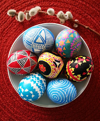 Happy Easter (abadonmi01) Tags: easter spring branch painted egg pussy willow eggs wax tradition dye technique batik wiosna bazie pisanki wielkanoc pysanka jajka pysanky jajko ostereier sorbian pisanka malowane lausatian