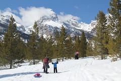 Snowshoeing (Aggiewelshes) Tags: travel winter snow april snowshoeing adrian wyoming jacksonhole grandtetonnationalpark 2016 gtnp taggartlaketrail