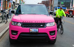 range rover in pink (yyzfoto) Tags: pink toronto rangerover bloorstreetwest