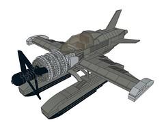D4CRazortail002 (Dragonov Brick Works) Tags: lego aircraft snot ldraw studless miniscale