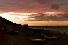 Saltburn-by-the-Sea Sunset Sept 1980 Olympus OM2n 55mm 1.4 Lens Kodacolor II Film 60 5.6 IMG_0004 (photographer695) Tags: sunset film lens 14 olympus 55mm ii 1980 sept 60 56 kodacolor om2n saltburnbythesea