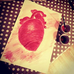 WIP #heart #painting #art #artist #beet... (nathanrobinson2) Tags: art painting artist heart vegetable beet beetroot aorta ventricles heartbeet uploaded:by=flickstagram instagram:photo=816825460173570876184137303