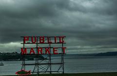 Pike Street Market (David Leyse) Tags: fish ferry neon gray pikestreetmarket publicmarket