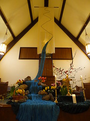 DSC04291 (Michael S in Seattle) Tags: sacredspace worshiparts wallingfordumc sanctuarydecorations easter2016 riverofbaptism