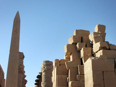 Temple of Karnak Bricks (shaire productions) Tags: world old travel building history tourism architecture temple photo sandstone ruins exterior image columns egypt picture structure architectural photograph egyptian karnak archeology ancientegypt archaic templeofkarnak egyptandthenile