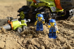 The proud Daddy! (Ddke) Tags: power lego mini thunder drill miners driller