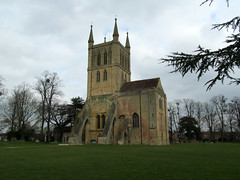 Pershore Abbey, Worcs (pefkosmad) Tags: uk england building church abbey architecture outside worship exterior outdoor norman holy worcestershire anglican placeofworship churchofengland pershore parishchurch earlyenglish