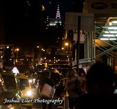 New York Night (Joshua Eller) Tags: newyorkcity taxi chryslerbuilding manhatten