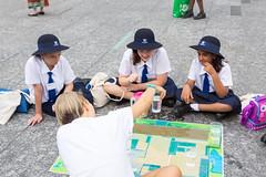 Analysing water use per person at home (Brisbane City Council) Tags: people kids children schoolchildren kgs schooluniform kinggeorgesquare greenheart waterchallenge worldsciencefestival schoolagechildren greenheartschools