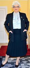 Ingrid021829 (ingrid_bach61) Tags: skirt suit mature pleated kostm faltenrock bowblouse schleifenbluse