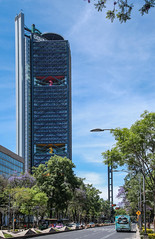 Torre Bancomer 102 (L Urquiza) Tags: city skyline skyscraper de mexico la torre ciudad paseo reforma bancomer