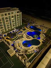 Blue (Bucajack) Tags: blue vacation water pool night mexico hotel cancun android nexus6p