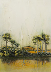 Justin Gaffrey LS18X24-2016 Lakescape (Justin Gaffrey) Tags: lake art nature painting landscape serene sola acrylicpaint 30a lakescape coastaldunelake justingaffrey