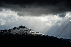 Rain clouds & evening sun (balu51) Tags: sky white mountain black berg sunshine rain clouds landscape grey evening abend wolken april landschaft lightandshadow regen sonnenstrahlen 2016 graubnden lichtundschatten surselva pizmundaun copyrightbybalu51