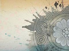 DSC09499 (scott_waterman) Tags: detail ink watercolor painting paper lotus gouache lotusflower scottwaterman
