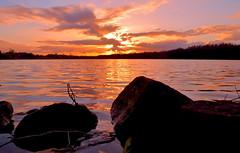 """ Sunset Dreilndersee "" (Kalbonsai) Tags: sunset sun colors clouds germany zonsondergang nikon 1855mm waterscape dreilndersee suntrails d5100 naturphotography"