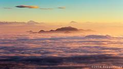Ground fog (beppeverge) Tags: mist alps fog clouds sunrise landscape dawn alba alpi mottarone seeofclouds beppeverge newyear2016 capodanno2016