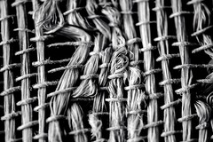 Woven - Monochromia (KWinters Photography) Tags: bw white abstract black macro texture monochrome closeup nikon flickr gray minimal fabric woven nikkor nikondigital whiteandblack schwarzweis monochromia d5500 cmwd cmwdblackandwhite nikondsl