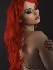 If I can't be my own, I'd feel better dead (fairie_hunter) Tags: red beauty hair nude lips redhead hidden topless deadlydoll