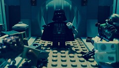 Darth Vader - Volume 1 - Heir to the Empire - Part 4 (Supremedalekdunn) Tags: light blackandwhite dark star palpatine lego mask side group lord story darth empire saber jedi anakin wars vader heir sith emperor skywalker sidious
