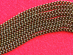 Chained Up (Alan FEO2) Tags: macro strand gold necklace shine indoors link 48 2oef 116picturesin2016 chainorchains