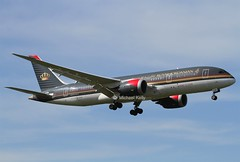 "Royal Jordanian                                Boeing 787  ""Dreamliner""                                       JY-BAF (Flame1958) Tags: travel vacation holiday flying heathrow flight boeing lhr heathrowairport 787 2016 0416 royaljordanian b787 londonheathrow egll dreamliner londonheathrowairport boeing787 200416 royaljordanianairlines royaljordanianairways jybaf royaljordanianb787"