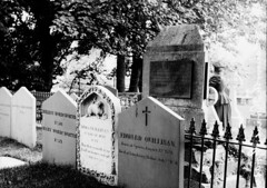 Victorian William Wordsworth Grave Grasmere before 1875 (Parsonago) Tags: old family original grave vintage john children dead dorothy found death photo grasmere headstone victorian graves negative photograph poet wife writer daffodils wordsworth 1870s