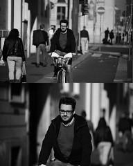 [La Mia Citt][Pedala] (Urca) Tags: portrait blackandwhite bw bike bicycle italia milano bn ciclista biancoenero mir bicicletta 2015 pedalare dittico nikondigitale ritrattostradale 82261
