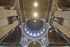 Cupola and Ceiling (Fairy_Nuff (new website - piczology.com!)) Tags: italy vatican rome roma saint st san basilica main ceiling cupola dome peters pietro