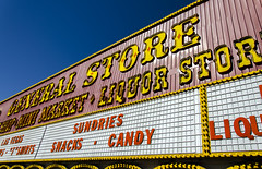 General Store (Preston Ashton) Tags: blue summer sky food usa sun hot sunshine shop retail outside store day candy general drink outdoor bluesky northamerica snacks cloudless sell sundries prestonashton