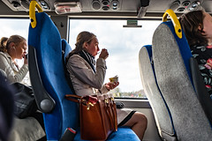 A snack on the bus (www.mikebark.eu) Tags: street europe sweden stockholm places strandvgen leicaq